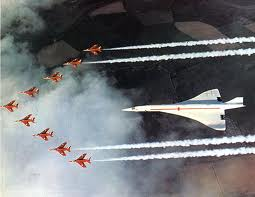 first concorde flight with raf red arrows