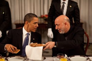 Obama and Karzai Pete Souza for Executive Office of the President of the US wikimedia