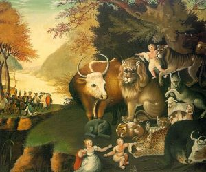Peaceable Kingdom by Edward Hicks public domain wikimedia