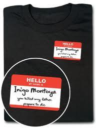 Inigo Montoya t-shirt thinkgeek.com
