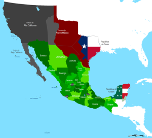 Map of Mexico 1842 Hpav7 wikimedia public domain