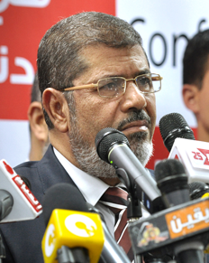 Egyptian President Mohamed Morsi image by Trinitresque wikimedia commons