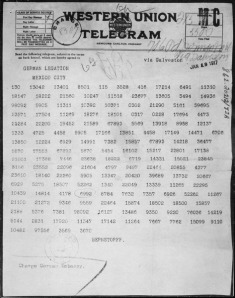 Zimmermann Telegram, 1917National Archives and Records Administration