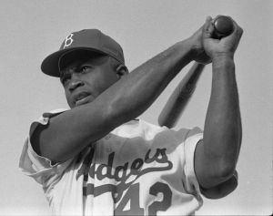 Jackie Robinson LOOK, v. 19, no. 4, 1955 Feb. 22, p. 78 Photo by Bob Sandberg, LOOK Photographer