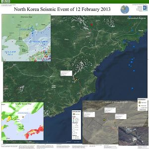 USGS info poster showing intensity of Feb. 12, 2013 North Korean nuclear test.