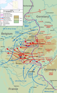 Battle of the Bulge Map from U.S. Military Source