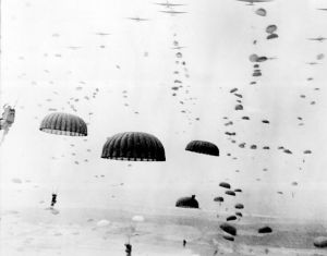 Paratroopers land in Holland image from U.S. Army