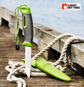 Swedish Fire Knife on the Dock