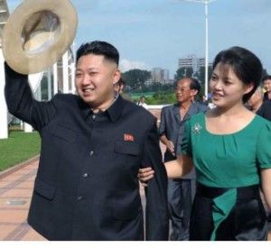 Kim Jong Un and his wife, Ri Sol-ju image by N.K. government